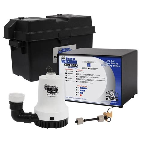 shop basement watchdog 0 33 hp plastic battery powered sump at lowes