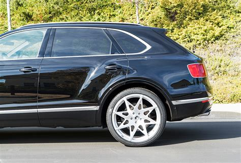 custom bentley bentayga rapper ready bentley bentayga poses on 24 quot custom wheels