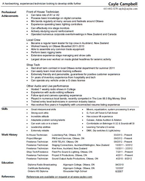 sle resume for costco av technician resume av technician resume sales technician
