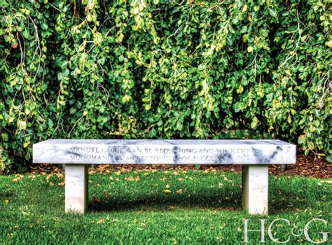 jenny holzer bench landscape details founder michael derrig is turning