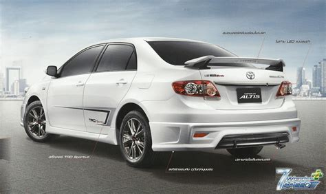 toyota accessories toyota genuine accessories corolla altis trd sportivo