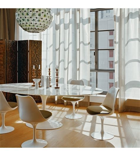 tavoli saarinen saarinen tavolo ovale in marmo knoll milia shop