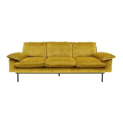 sofa in hk hk living retro sofa 3 seater ochre living and co