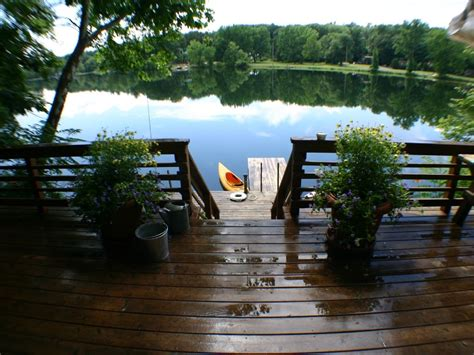 waterfront br private deck access houses for rent in private lakefront cottage on spring homeaway red hook