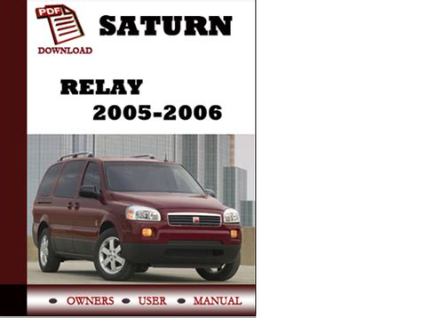 auto repair manual free download 2005 saturn relay interior lighting saturn relay 2005 2006 owners manual user manual pdf download dow