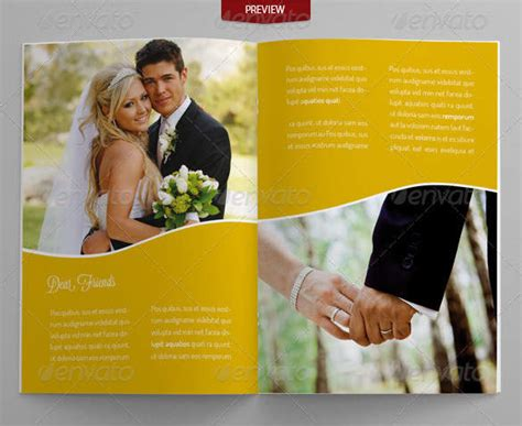 Wedding Photo Album Horizontal Brochure Template by 25 Wedding Brochure Templates Free Premium