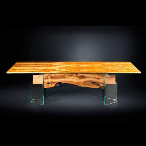 tavolo moderno in legno tavolo moderno in legno di olivo e vetro rettangolare