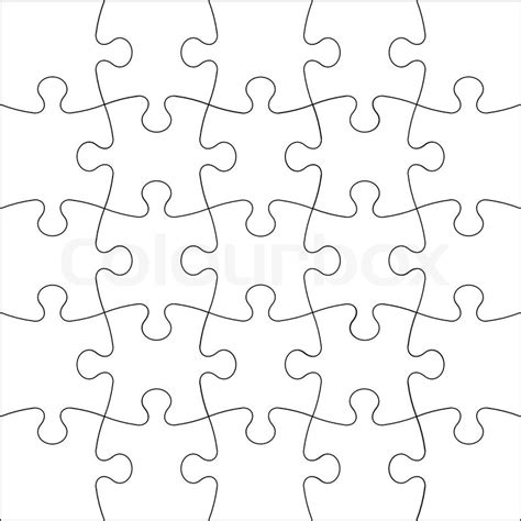 pattern for drawing around crossword background vector illustration jigsaw puzzle stock