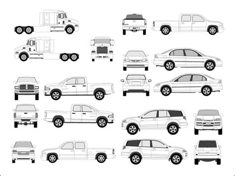 vehicle outline templates 13 car psd templates free images free psd