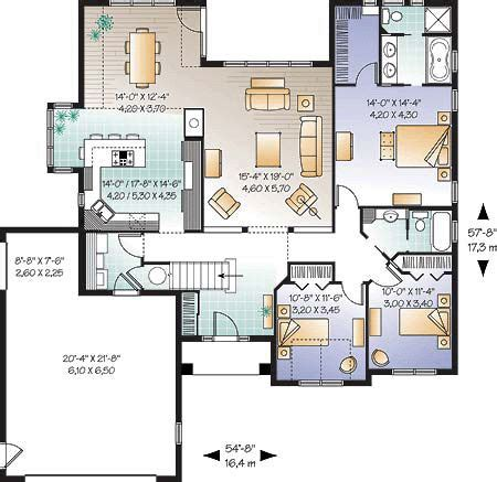 building plans for houses floor plan of bungalow european florida mediterranean house plan 64986 1816sqft it