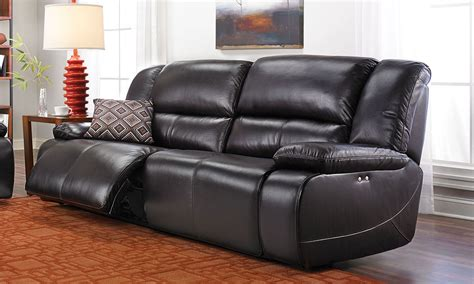 Leather Sofas With Recliners by Jamison Leather Power Reclining Sofa The Dump America