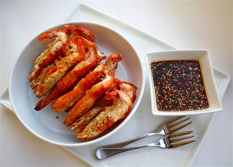 Sc Spicy Sweet grilled river prawns with spicy and sweet soy sauce recipe by seasaltwithfood petitchef