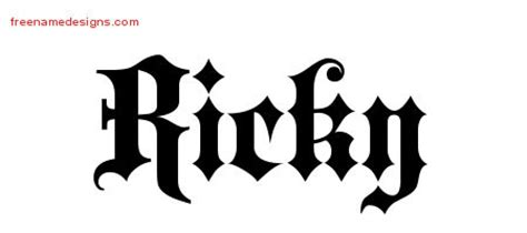 ricky name tattoo design name designs ricky free lettering