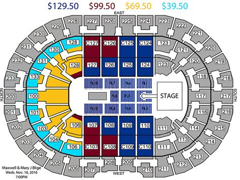 the q seating maxwell and j blige king and of hearts tour