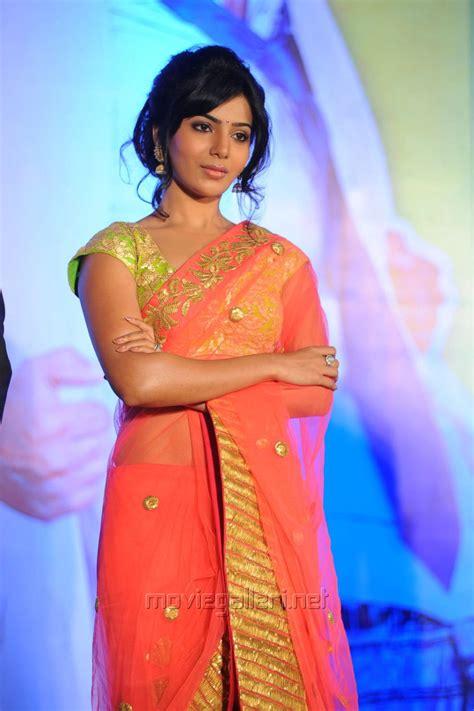 telugu heroines photos in saree picture 523589 photos of samantha heroine in saree new