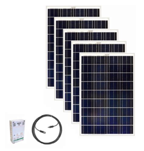 ultimate solar panel 5 panel 500 watt expansion kit for the earthtech