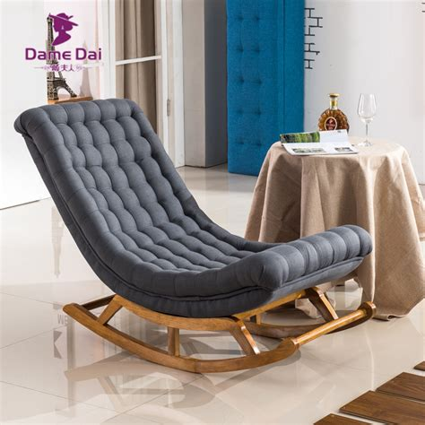 Living Room Lounge Chair Aliexpress Buy Modern Design Rocking Lounge Chair Fabric Upholstery And Wood For Home