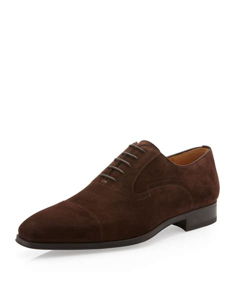 suede oxford shoes magnanni suede oxford shoe cacao in brown for 8 lyst