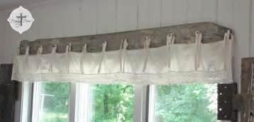 Wood Valances For Windows Decor Diy Barn Wood Bedskirt Valance Prodigal Pieces