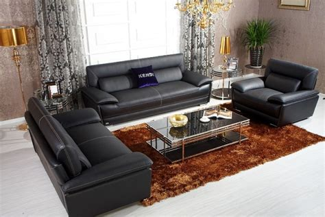 italian black leather sofa k8432 black italian leather sofa set