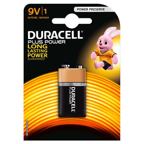 le 9v duracell plus power 9v batterie
