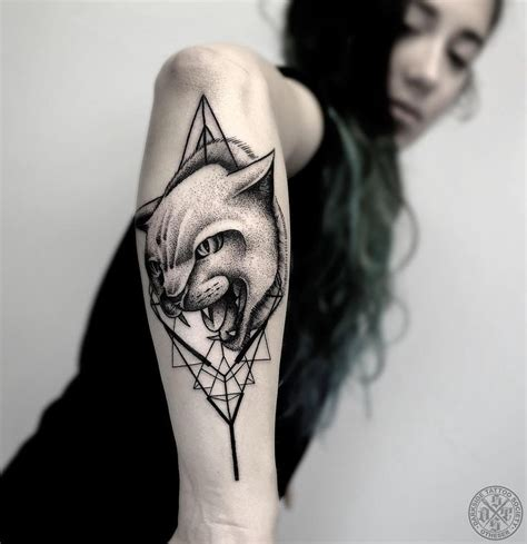 gothic cat tattoo on arm amazing cat tattoo design ideas