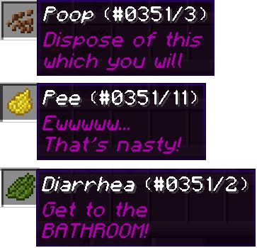 going to the bathroom too much poop bukkit plugins minecraft curseforge