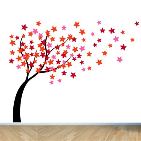 Wall Art Stickers Nursery windy flower tree wall sticker for living room blossom