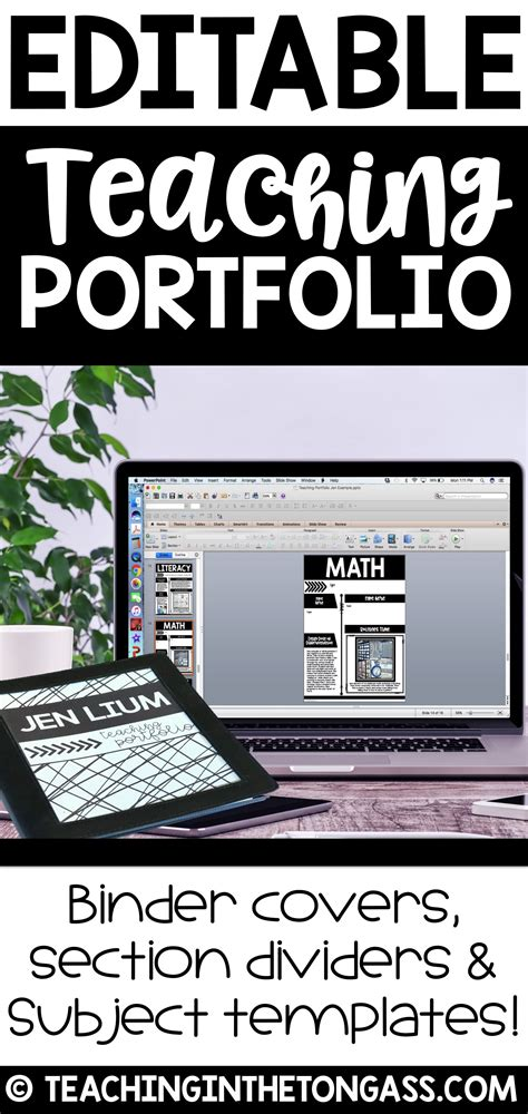teaching portfolio template free editable portfolio templates teaching portfolio
