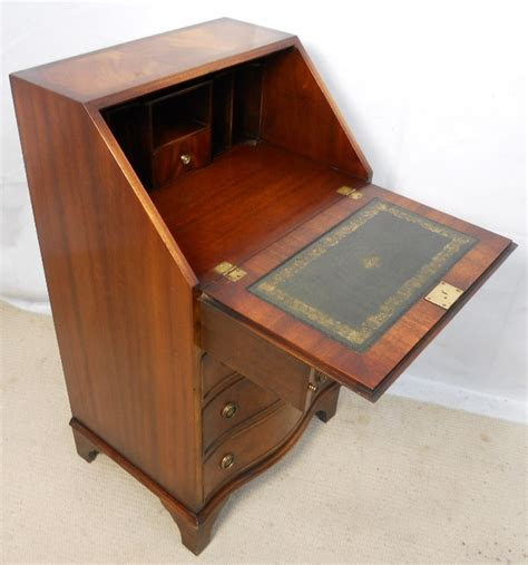 Small Bureau Desk Uk Reprodux Bevan Funnell Small Mahogany Writing Bureau Desk Sold