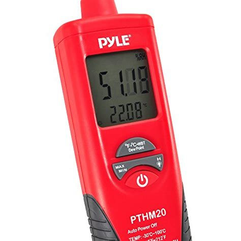 Alarm Nvl pyle meters pthm20 temperature and humidity meter with dew