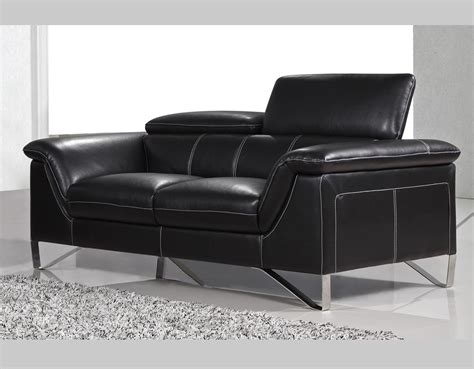 black modern sofa black modern sofa collection q25 leather sofas