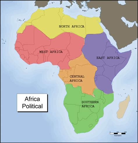 2 africa map five region of africa map two five regions of africa