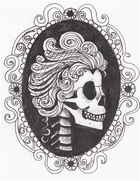cameo tattoo designs skull cameo design by sanguineasperso on deviantart
