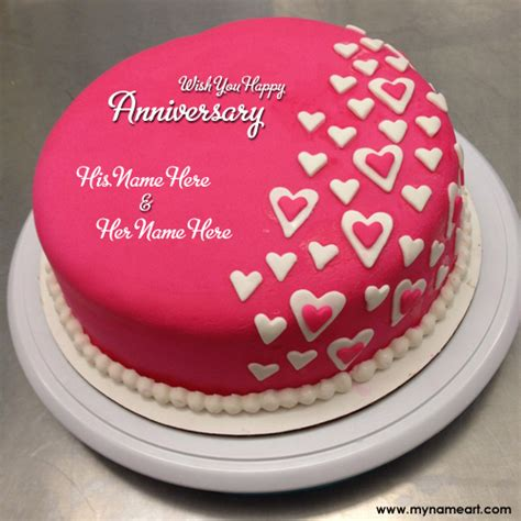 Wedding Anniversary Wishes Editing by Anniversary Cakes With Name Edit Free