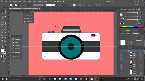 tutorial illustrator pemula tutorial for beginer quot how to make a simple camera in