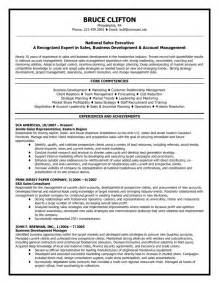 Resume Sle For Marketing Executive by Resume For Account Executive Sales