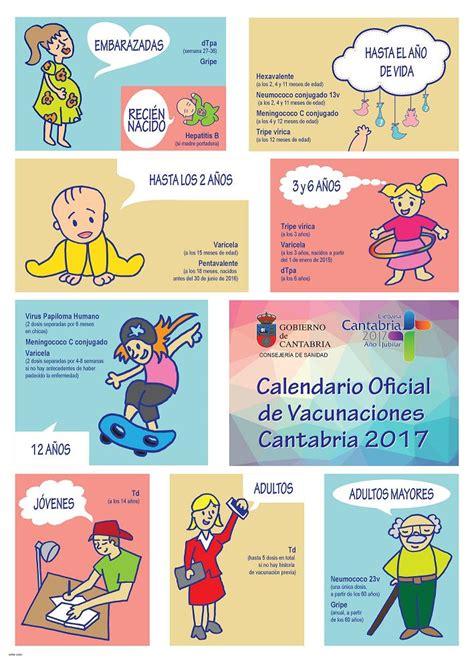 Calendario De La Escuela Consejer 237 A De Sanidad De Cantabria Calendario De Vacunaci 243 N