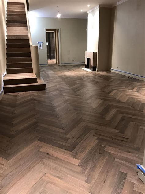 herringbone french oak hardwood floor installation in chicago tom peter flooring hardwood