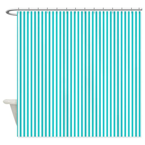 dark turquoise curtains thin dark turquoise stripes shower curtain by