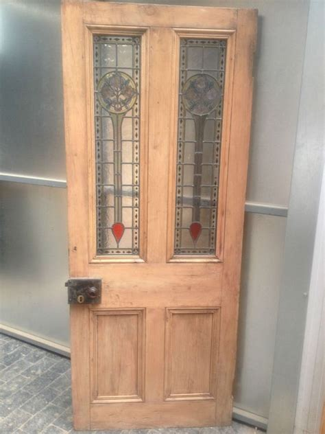 reclaimed glass doors reclaimed antique pine leaded stained coloured
