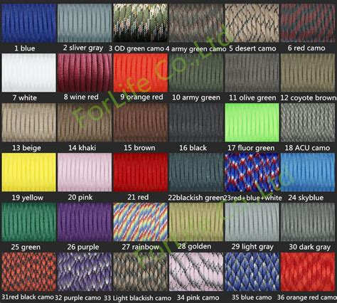 fedex colors fedex 112 colors paracord 550 paracord parachute cord