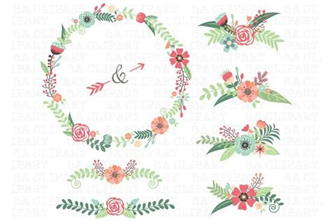 Wedding Bible Clipart by Wedding Floral Clipart Illustrations Creative Market