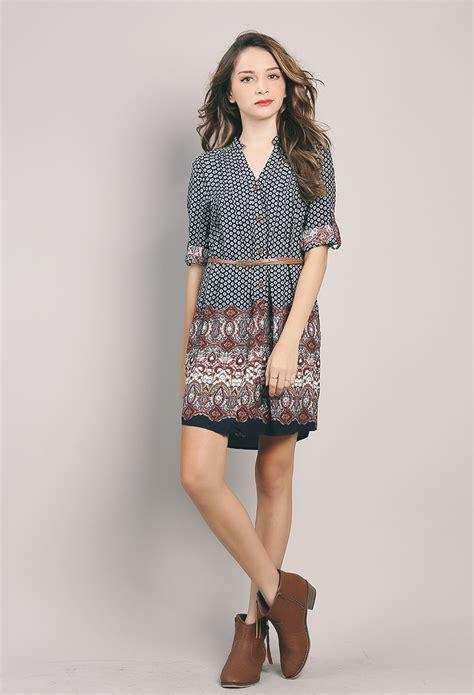 Midi Dress Bohemian Ferani boho midi dress w belt shop day dresses at papaya clothing