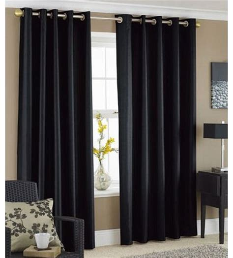 Black Lined Curtains 90 X 90