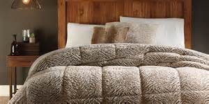 cannon bedding cannon faux fur comforter brown
