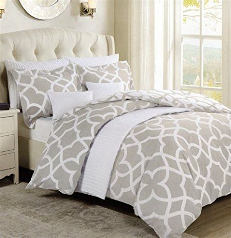 Quatrefoil Comforter by Max Studio Lattice Modern Quatrefoil Pattern Or