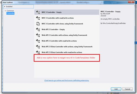 templates for asp net mvc 5 asp net mvc 5 custom scaffolding option t4 templates