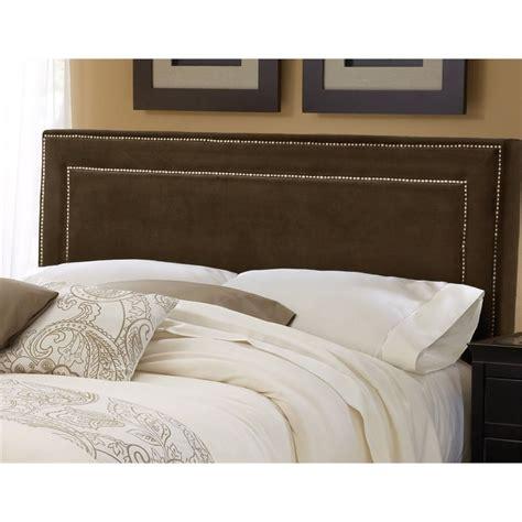 brown headboard queen hillsdale amber upholstered queen panel headboard in brown