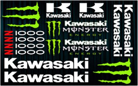 Z1000 Monster Aufkleber by Kit Stickers Kawasaki Z1000 Monster Boutique Www